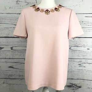 KATE SPADE Live Colorfully Beaded Blouse